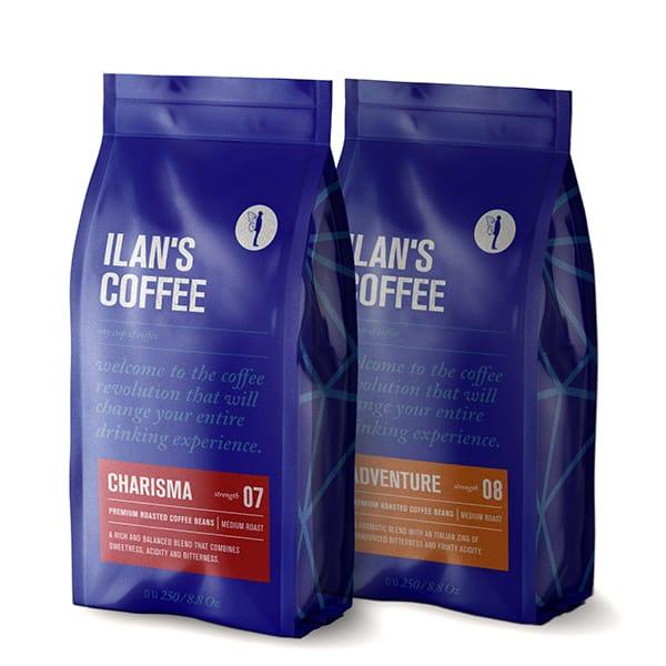 500 גרם מארז טעימות קפה לחובבי קלייה איטלקית מאוזנת
